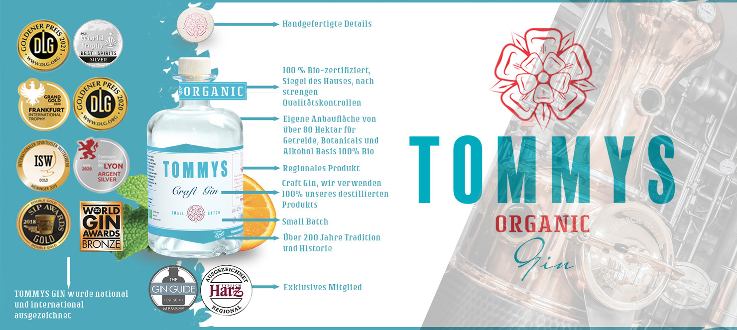 Tommys Dry Gin - mehrfach prämiert !